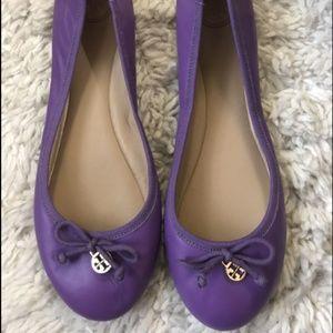Tory Burch Purple Chelsea Ballet Flats Size 10